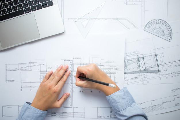 bouwtekening via stijlbloem